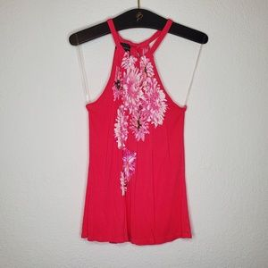 INC Hot Pink Halter Tank